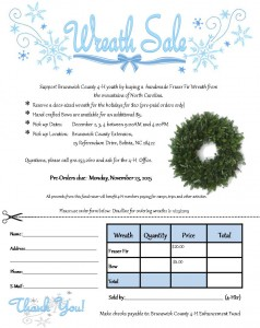 Cover photo for Brunswick County 4-H Selling Faser Fir Wreaths