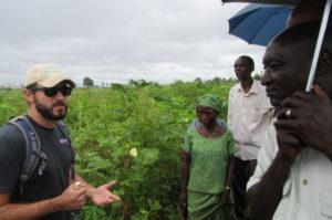 Sam Marshall teaching in the field