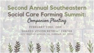 2nd Annual Southeastern Social Care Farming Summit