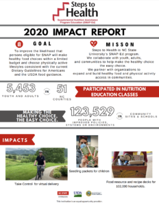 Cover photo for Steps to Health Reaches Out Virtually in 2020