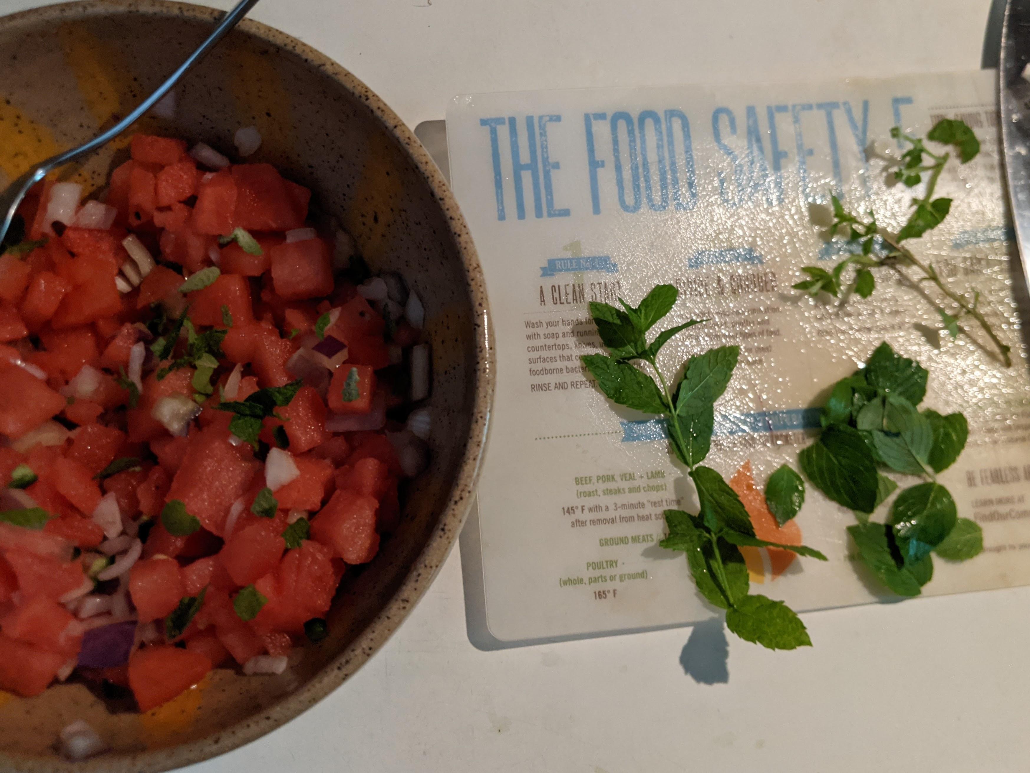 Watermelon Salsa prepared by EMFV Jane Kulesza