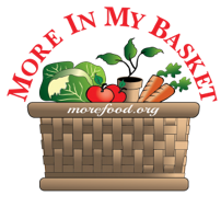 Drawing of basket with vegetables and plant