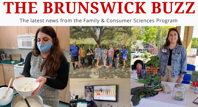 Brunswick Buzz header with FCS Agent, Meghan.